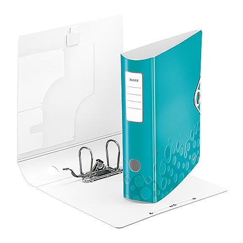 Leitz WOW Plastic Lever Arch Box Files 80mm Light Blue
