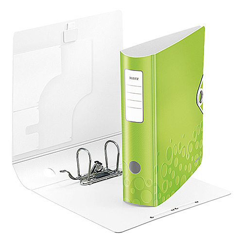 Leitz WOW Plastic Lever Arch Box Files 80mm Light Green